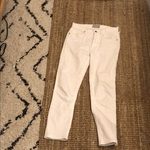 Everlane white cheeky jeans